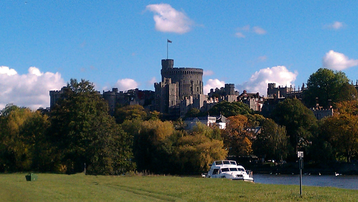 windsor castle from the brocas