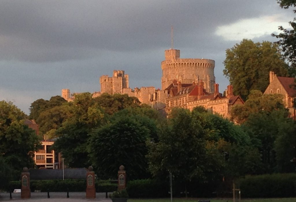 windsor castle in evening light